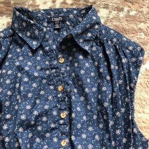 Chaps Floral Cotton Top